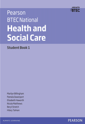 BTEC National Health and Social Care - Student Book 1 | Marilyn Billingham, Pamela Davenport | Pearson