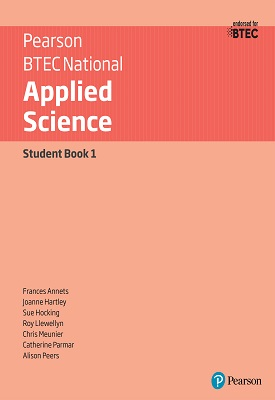 BTEC Level 3 Nationals 2016 Applied Science Student Book 1   Joanne Hartley, Frances Annets, Chris Meunier, Roy   Pearson