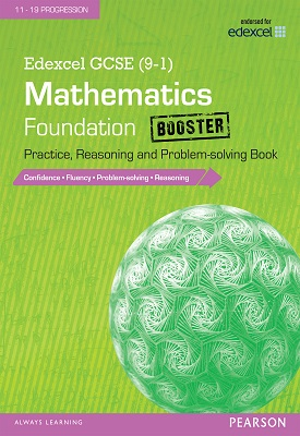 Edexcel GCSE (9-1) Mathematics: Foundation Booster Practice, Reasoning and Problem-solving Book   Katherine Pate   Pearson
