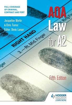 AQA Law for A2 Fifth Edition | Martin, Jacqueline; Lancer, Denis | Hodder