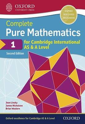 Complete Pure Mathematics 1 for Cambridge International AS & A Level | Brian Western, James Nicholson | Oxford University Press