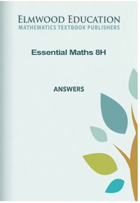 Essential Maths 8H Answer Book | David Rayner | Elmwood