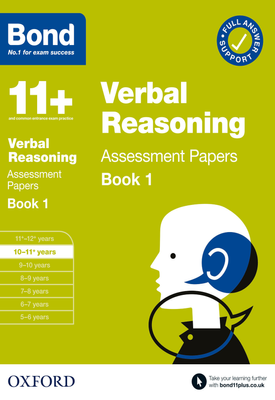 Bond 11+: Verbal Reasoning Assessment Papers Book 1 10-11 Years   Frances Down   Oxford University Press