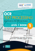 OCR Text Processing (Business Professional) Level 1 Book 1