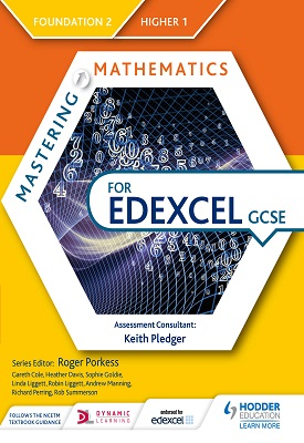 Mastering Mathematics for Edexcel GCSE: Foundation 2/Higher 1 | Gareth Cole, Heather Davis, Et al | Hodder
