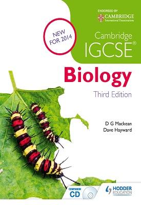 Cambridge IGCSE Biology 3rd Edition | D.G. Mackean, Dave Hayward | Hodder